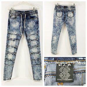 VIP Distress Distress Stone Wash Skinny Jeans